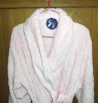 Soft baby pink bathrobe