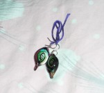 Glass sculpture earrings